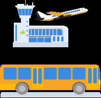 Flughafen parken Shuttle